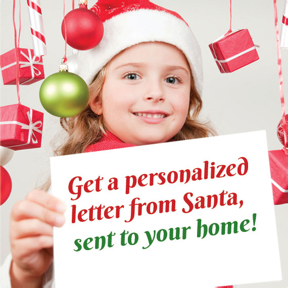 Get a personalized letter from Santa sent to your home!