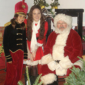 Santa Claus with helpers