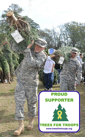 Proud Supporter of the Trees For Troops Program